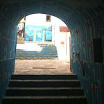 uno scorcio di un muro d'artista a salerno in campania